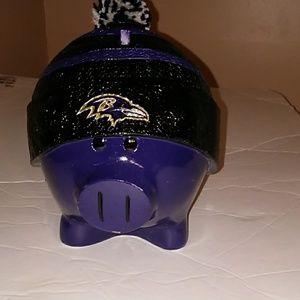 NIB NFL Ravens Piggy Bank
